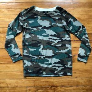J Crew Tippi camo sweater small